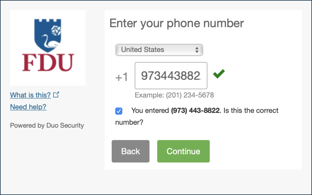Duo - Type Your Phone Number